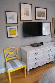 diy bedroom decor yellow and grey - Google Search