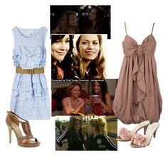 Brooke and Haley by maddeemack on Polyvore featuring Dorothy Perkins, GUESS, one tree hill, oth, haley and brooke davis