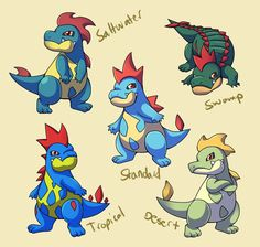 << Typhlosion   Totodile   Croconaw >> And...more Subspecies! This time with the Johto water starter Totodile. I plan to do subspecies of each pokemon in the Johto pokedex s...