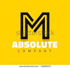 Vector graphic creative line alphabet symbol / Letter M - stock vector