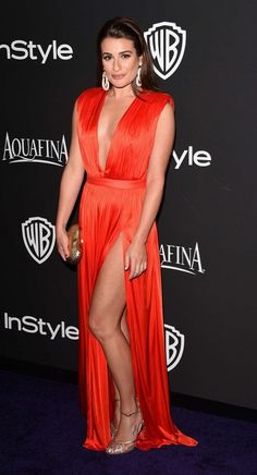 Lea Michele – InStyle And Warner Bros Golden Globes Party in Beverly Hills
