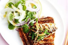 Grilled whitefish and fennel apple salad, Finnish Food, May 2016