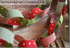 Fabric Paper Chain (pinking shears, fusible webbing, sew on velcro
