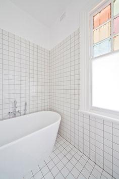 Bathroom: leadlights simple
