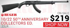 "Ruger 10/22 Anniversary Collector's Series .22LR 18.5"" 25+1 Long Gun"