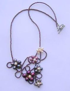Multicolor Necklace. Necklace with flowers made by BBBsDesigns, $45.00