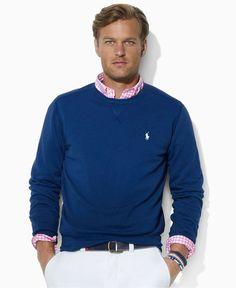 Polo Ralph Lauren Shirt, Beach Fleece Crewneck Shirt - Mens Hoodies & Track Jackets - Macy's