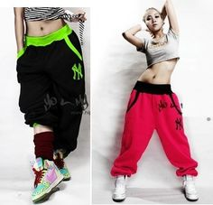 77b4af1bb0f6b 4olors loose dance wear pants women/men, NY hip hop sweatpants for lovers/