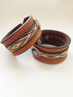 Click to enlarge Southwest Charm Leather Cuff
