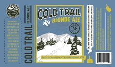 Top 9 July 2013: Label for Cold Trail Blonde Ale by Dylan Macnab
