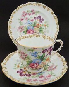 "4:00 Tea...Royal Albert...""Nosegay"" Trio 1935"
