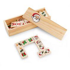 Juego de dominó con motivos navideños. Dimensiones: 14,7 x 5 x 3 cm. MERCHANDISING REGALO PROMOCIONAL EN NAVIDAD - INFANTIL - DOMINÓ NAVIDAD