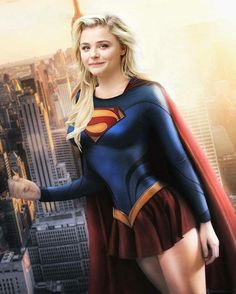 Chloe Grace Moretz as Supergirl Chloe Grace Moretz, Hit Girl, Chloe Morets, Hollywood, Seinfeld, Comics Girls, Dc Comics, Beautiful Celebrities, Cosplay Girls