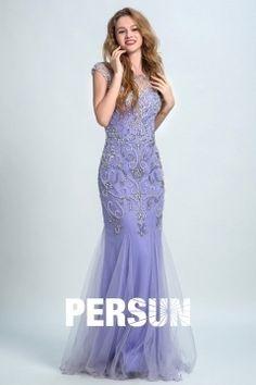 Lavender Vintage Jewel Mermaid Evening Dress Persun Open Back Nostalgia, Formal Wear Women, Mermaid Evening Dresses, Fashion Advice, Well Dressed, Cool Style, Glamour, Gowns, Formal Dresses