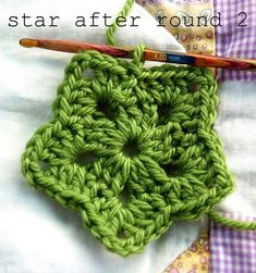 Crochet star.  I need to figure out how to turn this into a square, this would be an awesome grannyghan