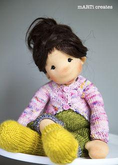 Julia by mARTi creates www.marticreates.com Waldorf Dolls, Hello Dolly, Needle Felting, Art Dolls, Doll Clothes, Arts And Crafts, Faces, Teddy Bear, Inspired
