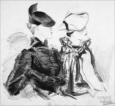 René Bouet-Willaumez, Two woman in Reboux hats, 1934, Copyright Condé Nast Archive / Corbis