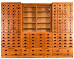 Antique apothecary cabinet, larger than the typical ones with 156 drawers!