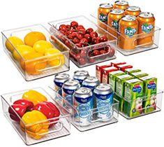 Amazon.com: pantry storage Refrigerator Organization, Food Storage Organization, Pantry Storage, Food Storage Containers, Storage Baskets, Organizer Bins, Refrigerator Freezer, Organizers, Plastic Bins