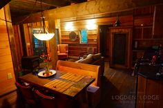 Luxury mountain retreat LOGDEN Lodge is the fruit of a lifelong dream and ambition. With 4 rustic luxury cabins nestled into 42 private acres. Gold Cup, Mountain Living, Liquor Cabinet, Rustic, Luxury, Night, Design, Home Decor, Country Primitive