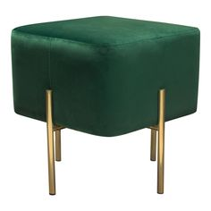 Accents - Page 5 Gold Rooms, Gold Bedroom, Bedroom Green, Green Ottoman, Modern Ottoman, Navy Living Rooms, Living Room Green, Emerald Green, Green And Gold
