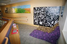 Leominster_Poetry by Kimberly Bolan Cullin, via Flickr Teen Library Space, Library Ideas, Magnetic Poetry, Literacy, Kids Rugs, Wall, Room, Home Decor, Bedroom