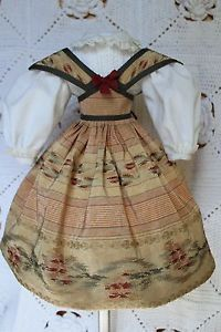 Swiss dress and chemisette  for antique French fashion doll 16inch.(1860years) in Dolls & Bears, Dolls, Clothes & Accessories, Antique & Vintage | eBay