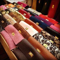Gold Leather clutch, Clutch Bag,  Wedding Clutch, Bridemaid Clutch, Party Clutch, Leather Clutch. $35.00, via Etsy.