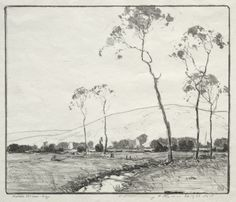 """""""The North Meadow,"""" Chauncey Foster Ryder, lithograph, Cleveland Museum of Art."""
