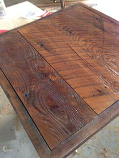 Reclaimed Wood Table Top 24 X Weathered By Freshrestorations