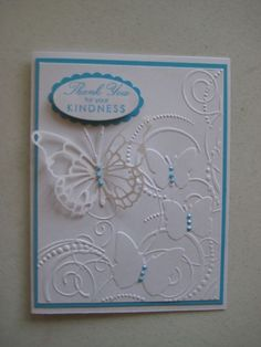 All Thank You card kit with envelopes made with stampin up products