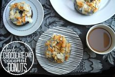 DARK CHOCOLATE CAKE DOUGHNUTS // shutterbean