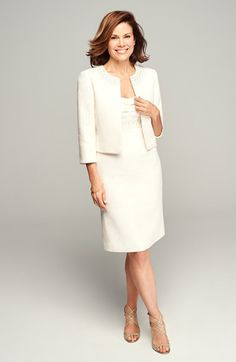 Tahari Metallic Jacquard Jacket & Dress | Nordstrom