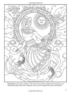 Goddess Coloring Pages | goddesses colouring pages