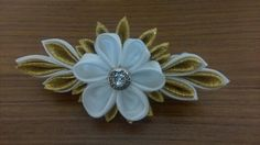 Kanzashi on French Barrete clips