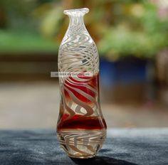 Roderich Wohlgemuth, Bremen Miniflasche Luster Glass Sign. Studioglas Unikat Sammlerglas Image