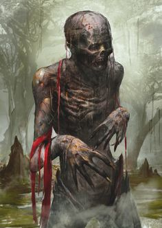 Sorry as a zombie i had sex and created life. Something gone wrong with Meditation. But the key was stolen by time bombs Fantasy Rpg, Dark Fantasy Art, Medieval Fantasy, Horror Show, Horror Art, Fantasy Creatures, Mythical Creatures, Apocalypse Art, Dark Art