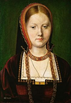 Michael Sittow ( 1468-1525 or 1526) -- Portrait of Catherine of Aragon.