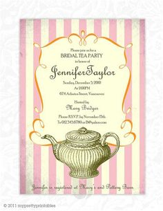 Garden Tea Party DIY Printable Bridal Shower Invitation - Bridal tea party invitation template