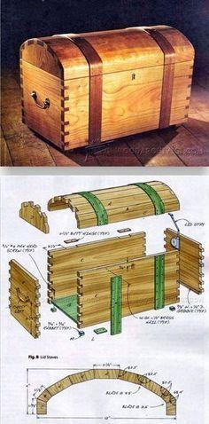 Keepsake Trunk Plans - Woodworking Plans and Projects | WoodArchivist.com #WoodworkingProjectsDresser