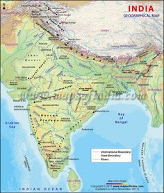 Route map of Ganges River, an important and sacred river in Classic ...