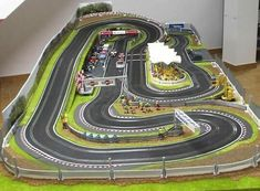 Discover ideas about scalextric digital Slot Car Race Track, Ho Slot Cars, Slot Car Racing, Slot Car Tracks, Drag Racing, Race Tracks, Scalextric Digital, Scalextric Track, Cars 1