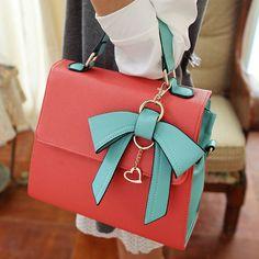 Elegant Bow Handbag&shoulder Bag-red