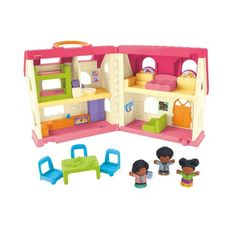 Fisher-Price Big Helpers Home Sounds Toddler Activity Toy with Figures Son...