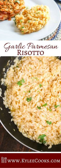 Risotto in minutes? Garlic Parmesan Risotto may be the star of th… Risotto in minutes? Garlic Parmesan Risotto may be the star of the show we call 'dinner' in this easy side – it's sure to please the whole family! Parmesan Risotto, Garlic Parmesan, Vegetarian Recipes, Cooking Recipes, Healthy Recipes, Amazing Food Recipes, Popular Recipes, Grilling Recipes, Vegetable Recipes