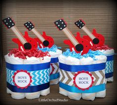 Rock Star baby shower/ Boys rock/ Its a boy/ by LittleOrchidStudio