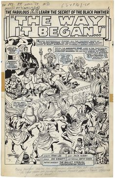 Splash page to Fantastic Four #53 by Jack Kirby and Joe Sinnott.