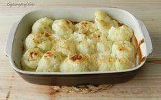 Coliflor al horno con nata y queso