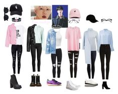 """BTS inspired outfits- Kim seokjin."" by kj101 ❤ liked on Polyvore featuring beauty, Current Mood, Miss Selfridge, WithChic, Equipment, MANGO, MSGM, AMIRI, Topshop and Citizens of Humanity"