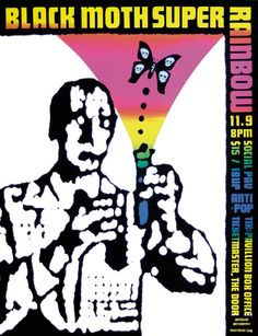 newmanology:  Black Moth Super Rainbow posterDesigner: Art Chantry Source: Gig Posters  This is so rad